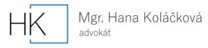 Mgr. Hana Koláčková, advokát Logo